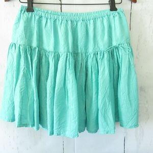 Calypso St Barth Silk Skirt Crinkle Pleated XS